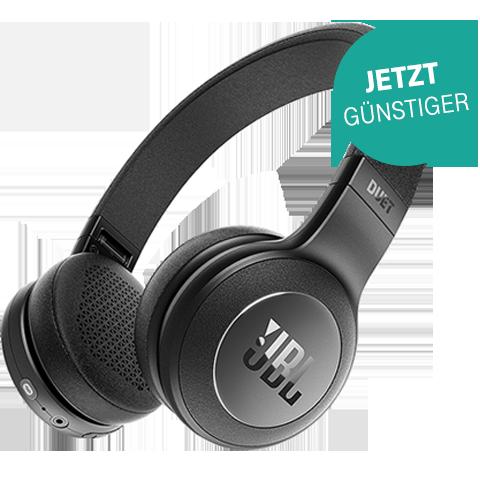 JBL Duet Bluetooth On-Ear Kopfhoerer Schwarz 99926730 vorne