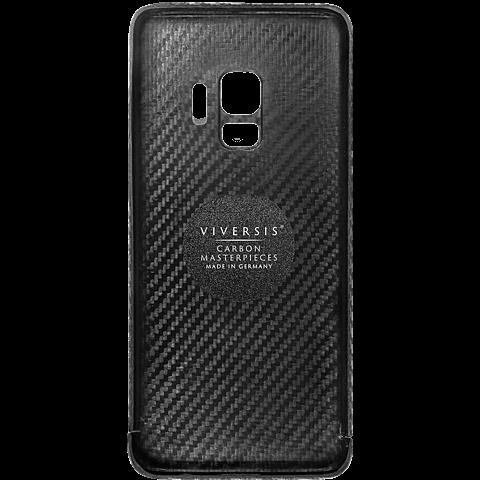 Viversis Carbon Cover Schwarz Samsung Galaxy S9 99927727 hinten