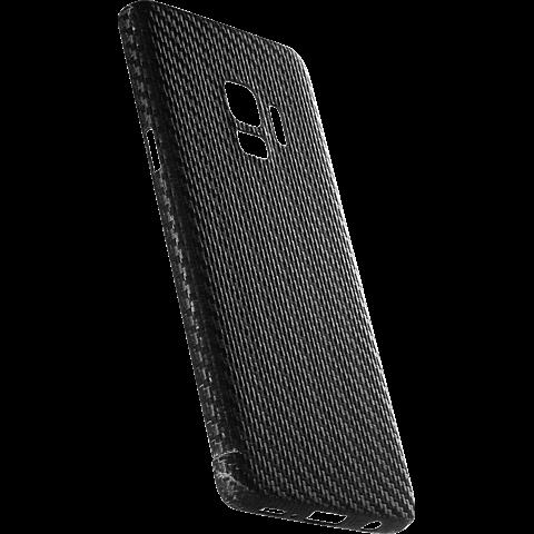 Viversis Carbon Cover Schwarz Samsung Galaxy S9 99927727 seitlich