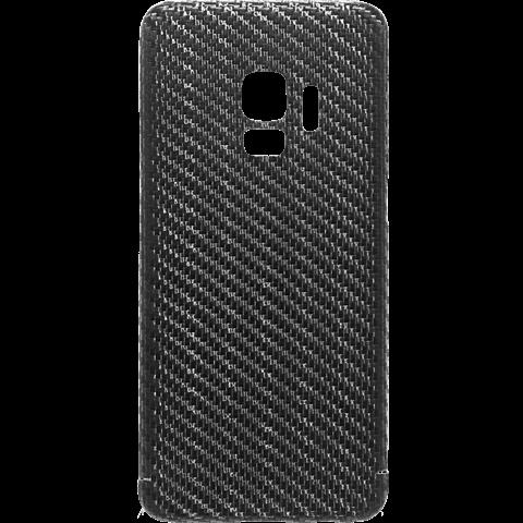 Viversis Carbon Cover Schwarz Samsung Galaxy S9 99927727 vorne