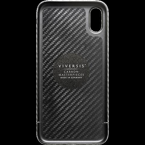 Viversis Carbon Cover Schwarz Apple iPhone X 99927726 hinten