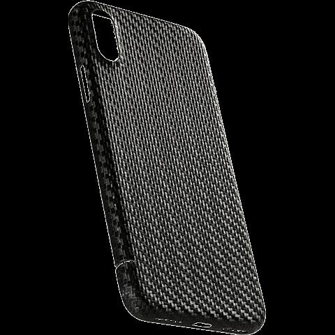 Viversis Carbon Cover Schwarz Apple iPhone X 99927726 seitlich