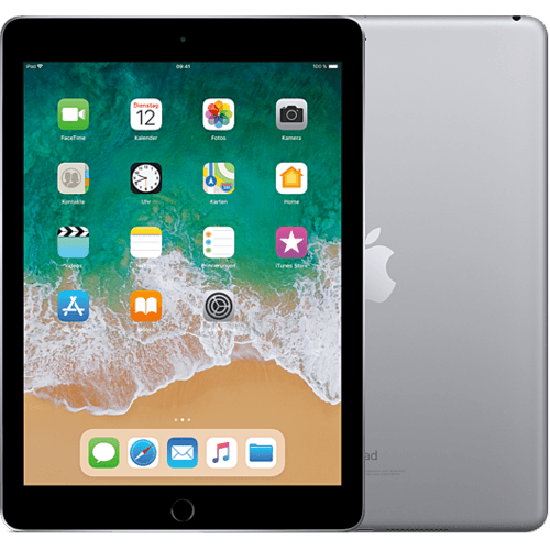 Apple iPad WiFi Spacegrau vorne und hinten