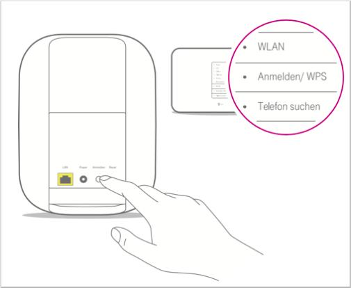 Home Base 2 über WPS mit dem Router verbinden