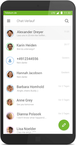 Message+ für Android: Chatverlauf