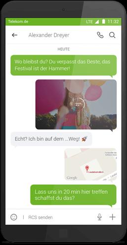 Message+ für Android: Einzelchat