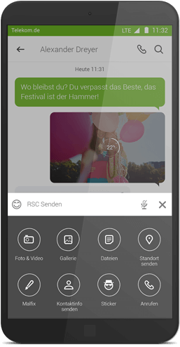 Message+ für Android: RSC