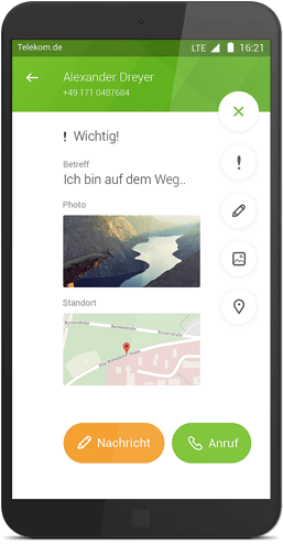 Message+ für Android: File-Sharing