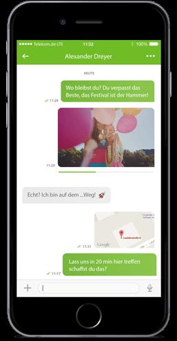 Message+ für iOS: Einzelchat