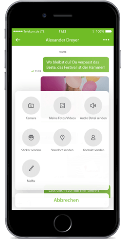 Message+ für iOS: File-Sharing