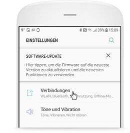 WLAN Call für Android: Menüpunkt Verbindungen