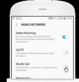 WLAN Call für Android: WLAN Call nicht aktiviert