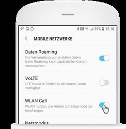 WLAN Call für Android: WLAN Call bitte aktivieren