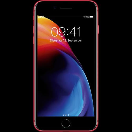 Apple iPhone 8 Plus Rot Vorne und Hinten