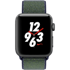 Apple Watch Series 3 Nike+ Aluminium-42 mm, Armband-Nike Sport-Midnight Fog, GPS und Cellular Space Grau Katalog