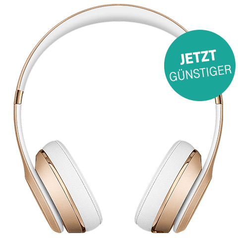 Beats Solo3 Wireless On-Ear Bluetooth-Kopfhörer Gold 99925743 vorne aktion