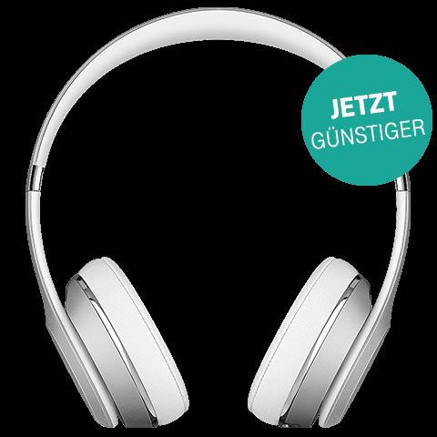Beats Solo3 Wireless On-Ear Bluetooth-Kopfhörer Silber 99925742 vorne aktion