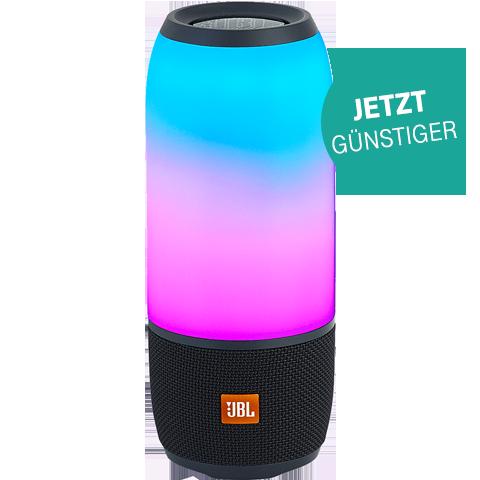 JBL Pulse 3 Bluetooth-Lautsprecher - Schwarz 99927253 vorne Aktion
