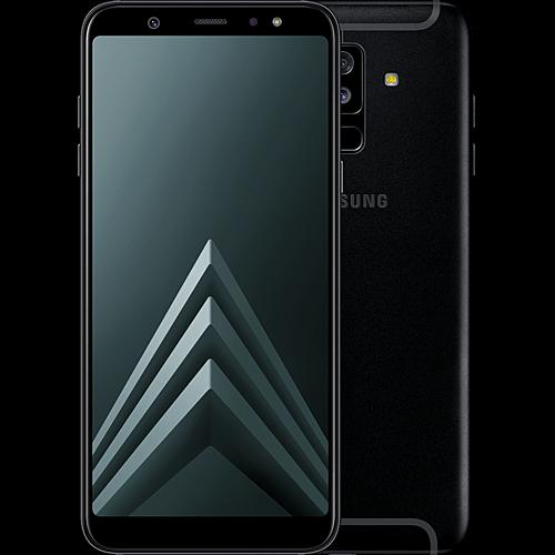 Samsung Galaxy A6+ Schwarz Vorne und Hinten