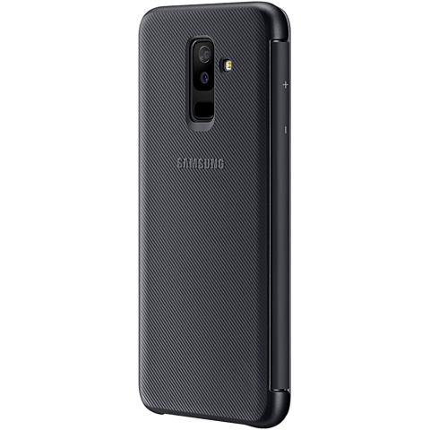 Samsung Wallet Cover Schwarz Galaxy A6+ 99927903 hinten