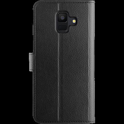 xqisit Slim Wallet Selection Schwarz Samsung Galaxy A6 99927940 hinten