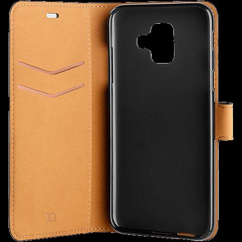 xqisit Slim Wallet Selection Schwarz Samsung Galaxy A6 99927940 seitlich