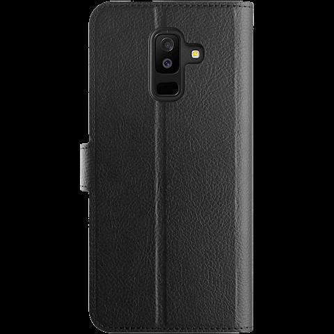 xqisit Slim Wallet Selection Schwarz Samsung Galaxy A6+ 99927941 hinten