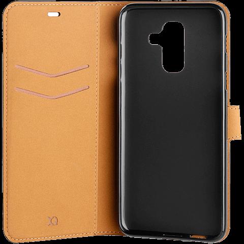 xqisit Slim Wallet Selection Schwarz Samsung Galaxy A6+ 99927941 seitlich