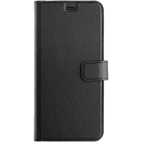 xqisit Slim Wallet Selection Schwarz Samsung Galaxy A6+ 99927941 vorne