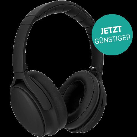 xqisit OE 400 ANC sw BT-Over-Ear Kopfhörer Aktion 99927180 vorne