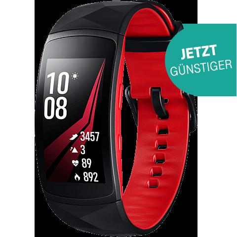 Samsung Gear Fit2 Pro Armbandgroesse L Rot 99927400 vorne