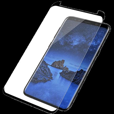 PanzerGlass Display Glas Schwarz Samsung Galaxy S9 99928016 vorne