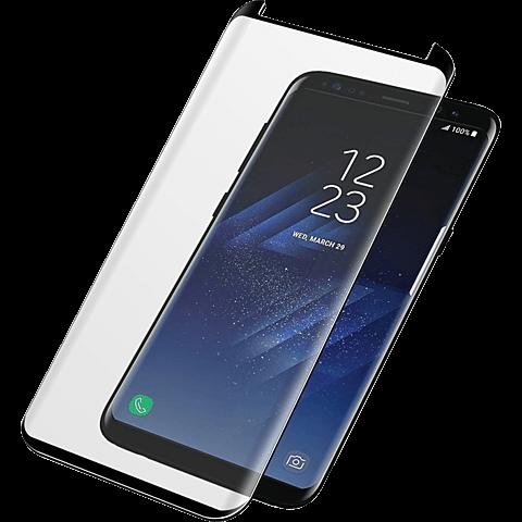 PanzerGlass Display Glas Schwarz Samsung Galaxy S8 99928024 vorne