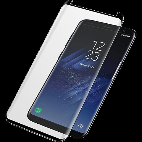 PanzerGlass Display Glas Schwarz Samsung Galaxy S8+ 99928025 vorne