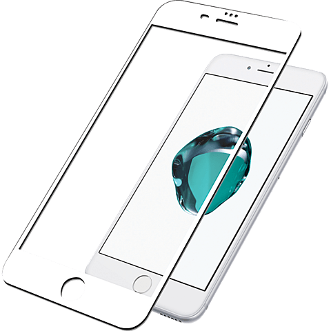 PanzerGlass Display Glas Weiss Apple iPhone 8 Plus 99928030 vorne