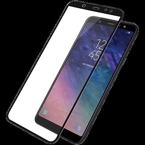 PanzerGlass Display Glas Schwarz Samsung Galaxy A6+ 99928023 vorne