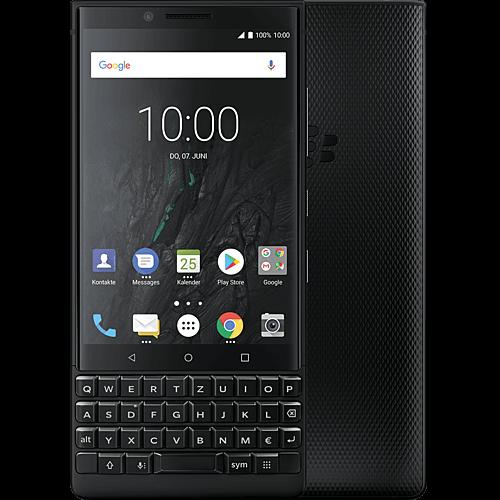 BlackBerry KEY2 Schwarz Vorne und Hinten