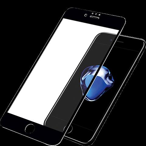 PanzerGlass Display Glas Schwarz Apple iPhone 8 99928027 vorne