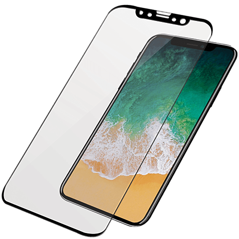 PanzerGlass Display Glas Schwarz Apple iPhone X 99928031 vorne