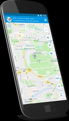 Movetrack App auf dem Smartphone