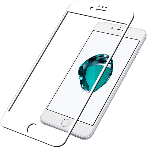 PanzerGlass Display Glas Weiss Apple iPhone 8 99928028 vorne