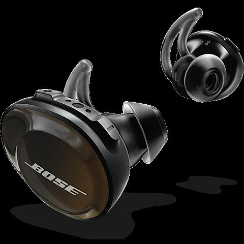 BOSE SoundSport Free Wireless Headphones Schwarz 99928125 seitlich