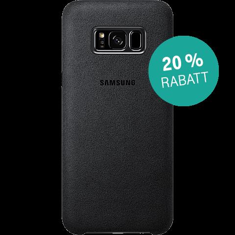 Samsung Alcantara Cover silbergrau Samsung S8+ 99926487 hinten