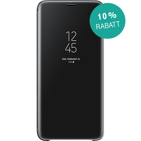 Samsung Clear View Cover Schwarz Galaxy S9+ 99927670 kategorie