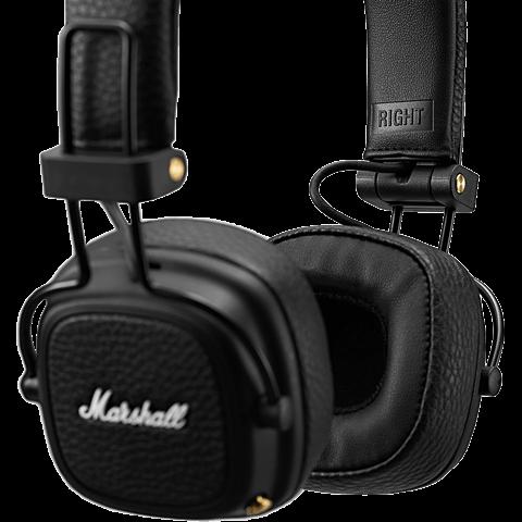 Marshall Major III Bluetooth-Kopfhörer Schwarz 99928042 seitlich
