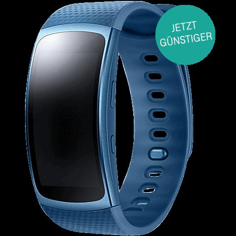 Samsung Gear Fit2 Armbandgröße Lblau 99925883 vorne