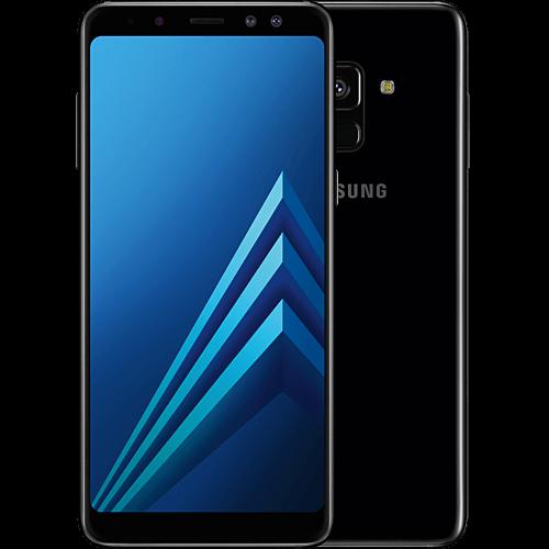 Samsung Galaxy A8 Enterprise Edition Schwarz Vorne und Hinten
