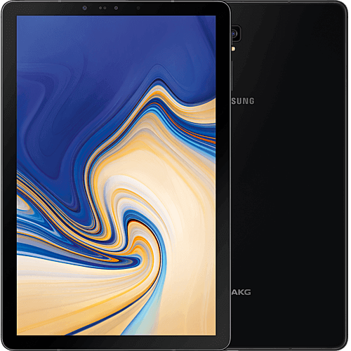 Samsung Galaxy Tab S4 LTE Schwarz vorne und hinten