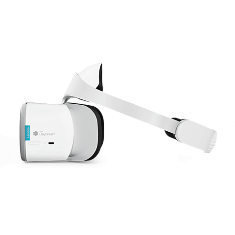 Lenovo Mirage Solo VR-Headset Moonlight Weiß 99928036 seitlich
