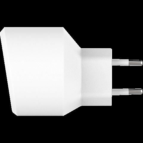 xqisit Ladegerät 2,4A Single USB Weiss 99928167 seitlich